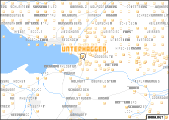 map of Unterhaggen