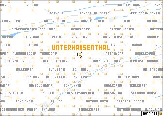 map of Unterhausenthal