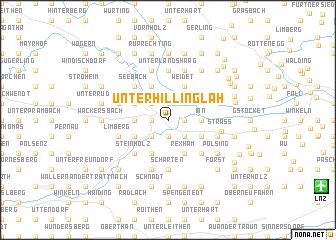 map of Unterhillinglah