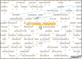 map of Unterholzhausen