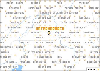 map of Unterhörbach