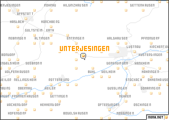 map of Unterjesingen