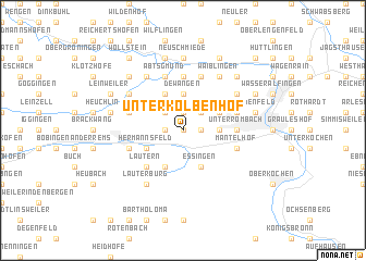 map of Unterkolbenhof