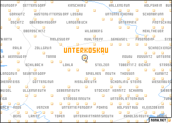 map of Unterkoskau