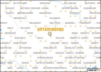 map of Unterkoskau