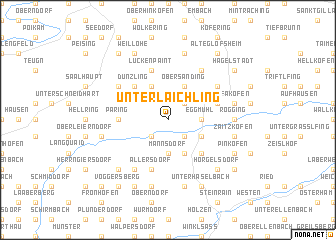 map of Unterlaichling