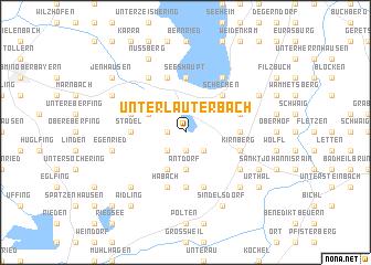 map of Unterlauterbach
