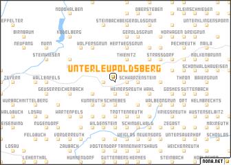 map of Unterleupoldsberg
