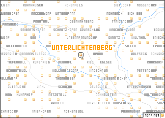 map of Unterlichtenberg