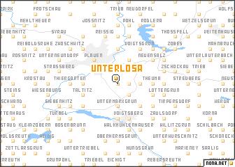 map of Unterlosa