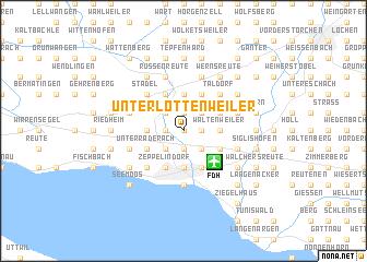 map of Unterlottenweiler