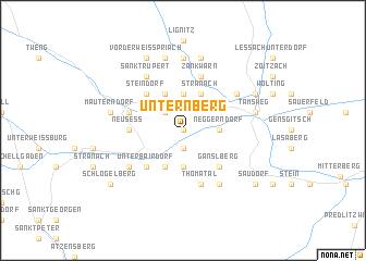map of Unternberg