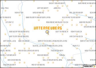 map of Unterneuberg