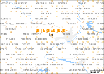 map of Unterneundorf