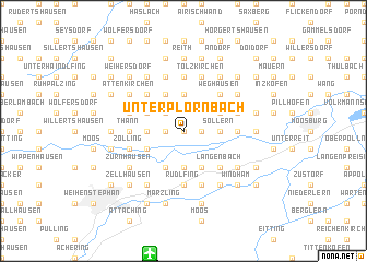 map of Unterplörnbach