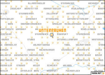 map of Unterrauhen