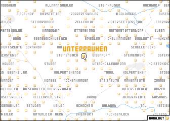 map of Unterrauhen