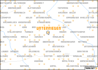 map of Unterrieden