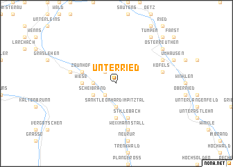 map of Unterried