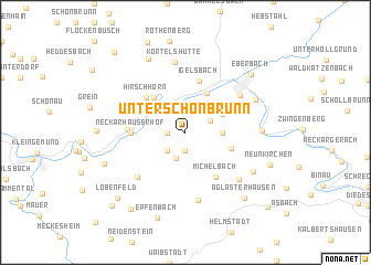 map of Unterschönbrunn