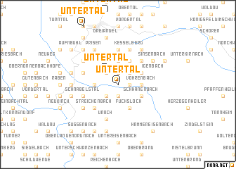 map of Untertal