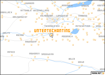 map of Untertechanting