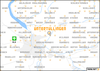 map of Unter Tüllingen