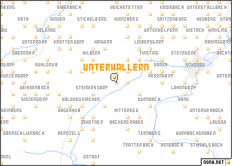 map of Unterwallern
