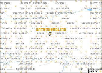 map of Unterwendling