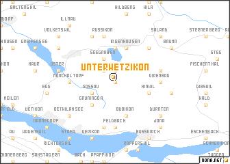 map of Unter-Wetzikon
