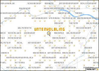 map of Unterwölbling