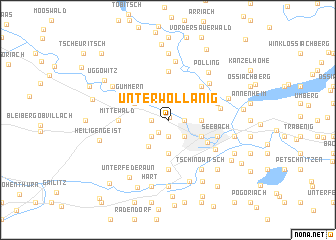 map of Unterwollanig