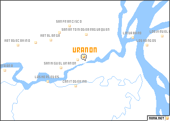 map of Urañon