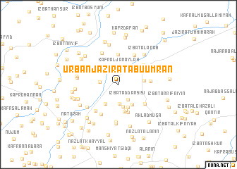 map of 'Urbān Jazīrat Abū 'Umrān
