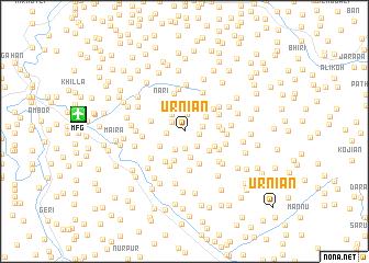 map of Ūrniān
