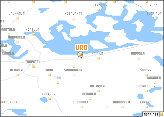 map of Uro