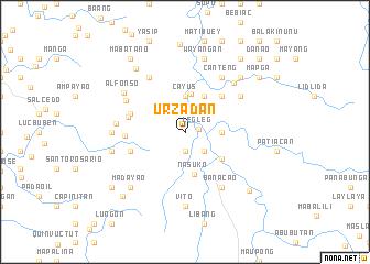 map of Urzadan