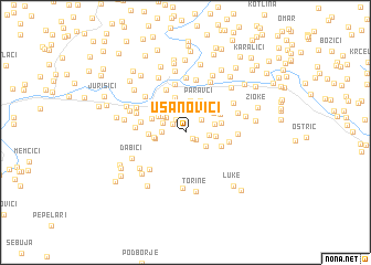 map of Usanovići