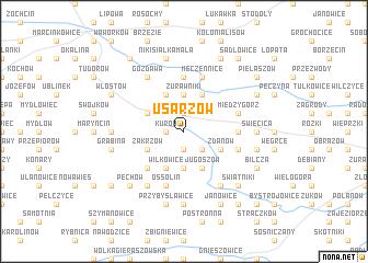 map of Usarzów