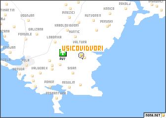 map of Ušićovi Dvori