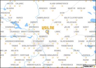 map of Úsilné