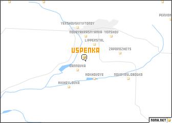 map of Uspenka