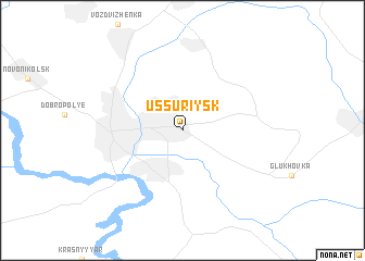 map of Ussuriysk