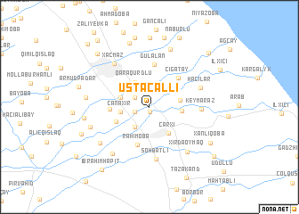 map of Ustacallı