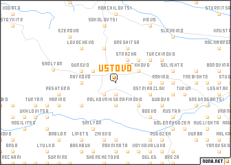 map of Ustovo