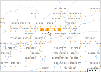 Usumatln Guatemala map nonanet