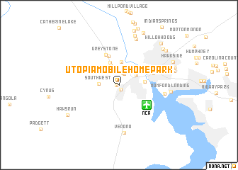 Map Of Utopia Mobile Home Park