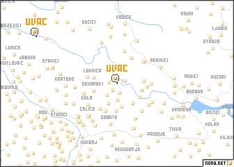 uvac srbija mapa Uvac (Serbia and Montenegro) map   nona.net uvac srbija mapa