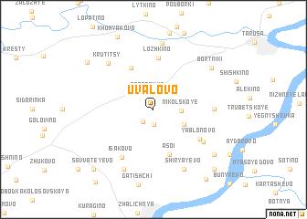 map of Uvalovo