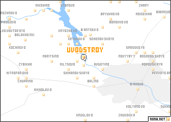 map of Uvodstroy
